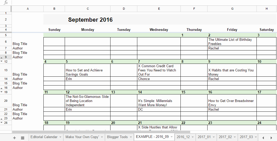 Schedule Template Google Sheets Beautiful Free 2019 Editorial Calendar In Google Sheets
