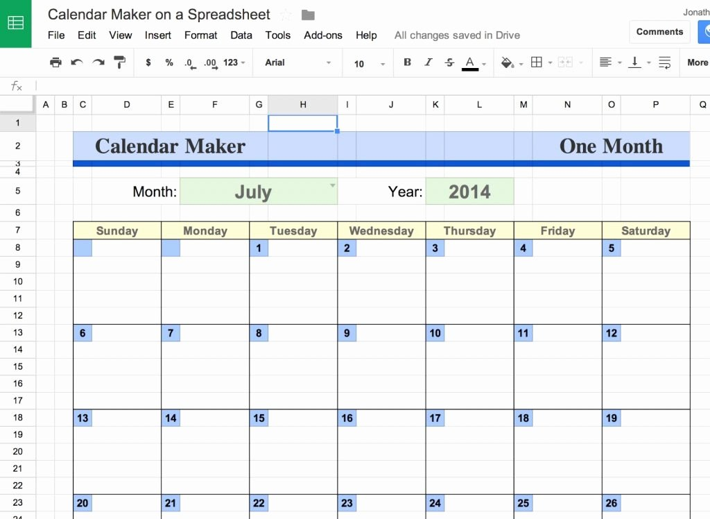 Schedule Template Google Sheets Elegant How to Make Calendar In Google Spreadsheet Create Yearly