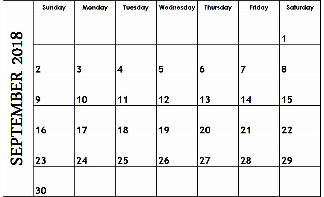 Schedule Template Google Sheets Fresh September 2018 Google Sheets Calendar Templates
