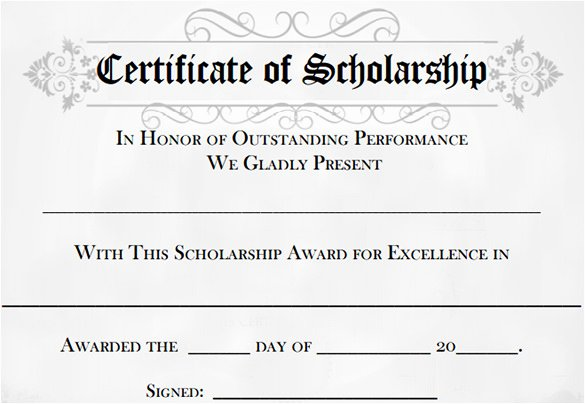 Scholarship Application Template Word Awesome 7 Scholarship Certificate Templates Word Psd