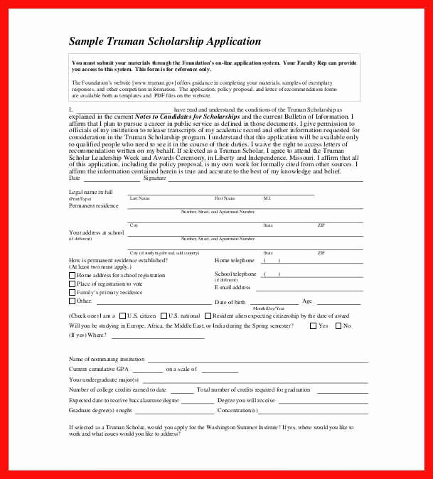 Scholarship Application Template Word Awesome Word Application Template