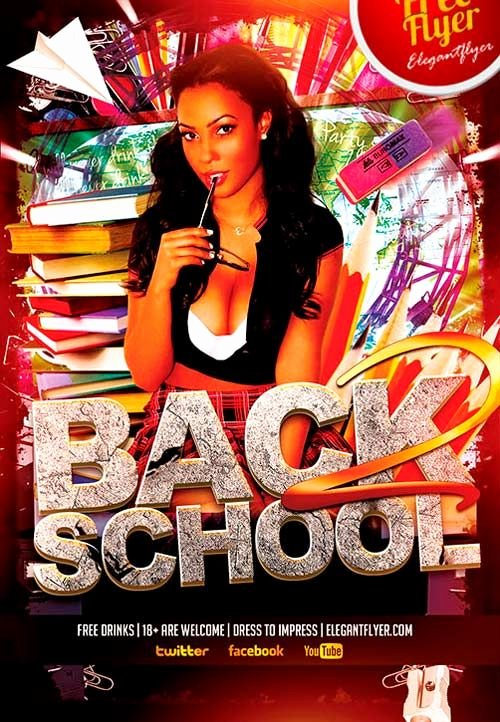 School Club Flyer Template Beautiful Free Back to School Party Psd Flyer Template