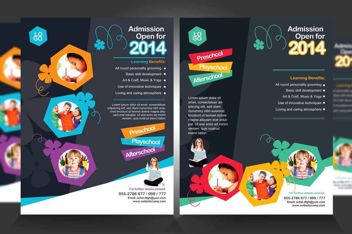 School Club Flyer Template Beautiful Junior School Promotion Flyers by Satgur Design Studio On