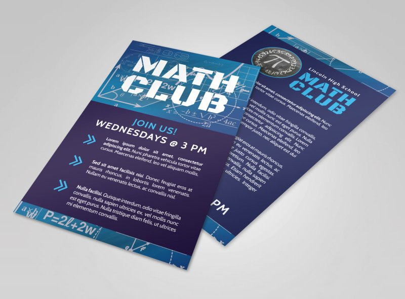 School Club Flyer Template Elegant Club Flyer Templates