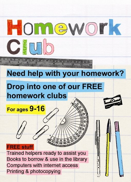 School Club Flyer Template Inspirational Homework Club at Brighton and Hove Libraries