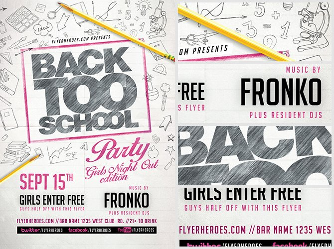 School Club Flyer Template Lovely Back to School Party Flyer Template V10 Flyerheroes
