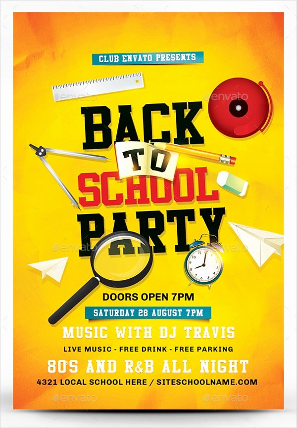 School Club Flyer Template Luxury 22 Back to School Flyers Free Psd Ai Eps format