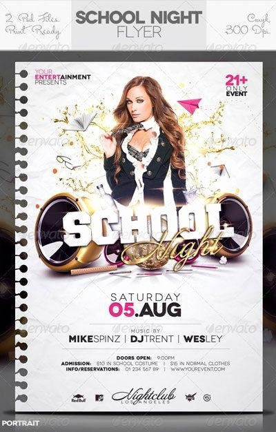 School Club Flyer Template New top 10 Best School Party Psd Flyer Templates for Shop