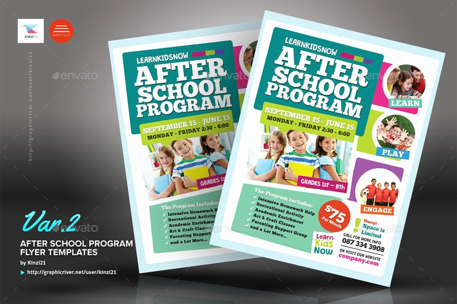 School Flyer Template Free Awesome after School Program Flyer Templates by Kinzi21