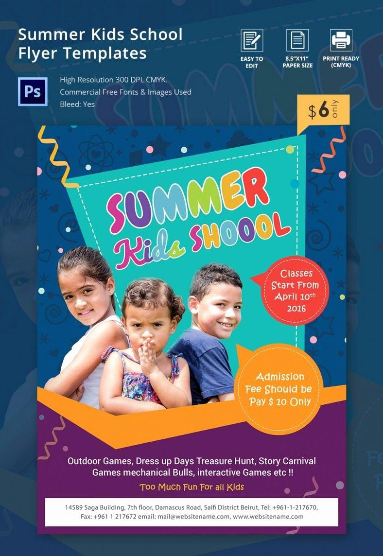 School Flyer Template Free Beautiful Summer Camp Flyer Template – 41 Free Jpg Psd Esi