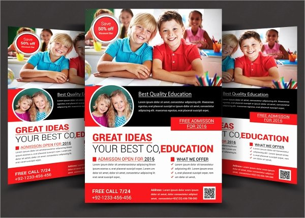 School Flyer Template Free Best Of 27 School Flyers Templates Psd Ai Pages Docs