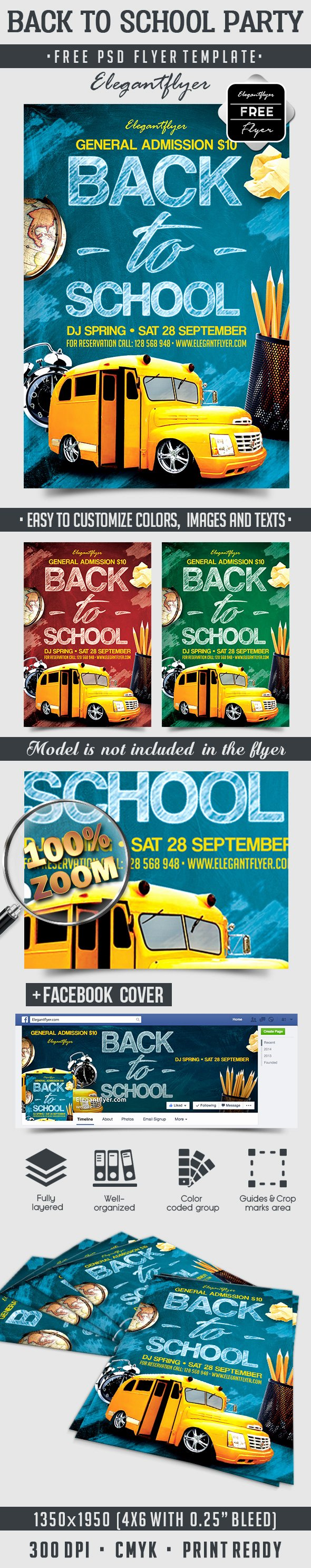 School Flyer Template Free Best Of Back to School Party – Free Flyer Psd Template – by