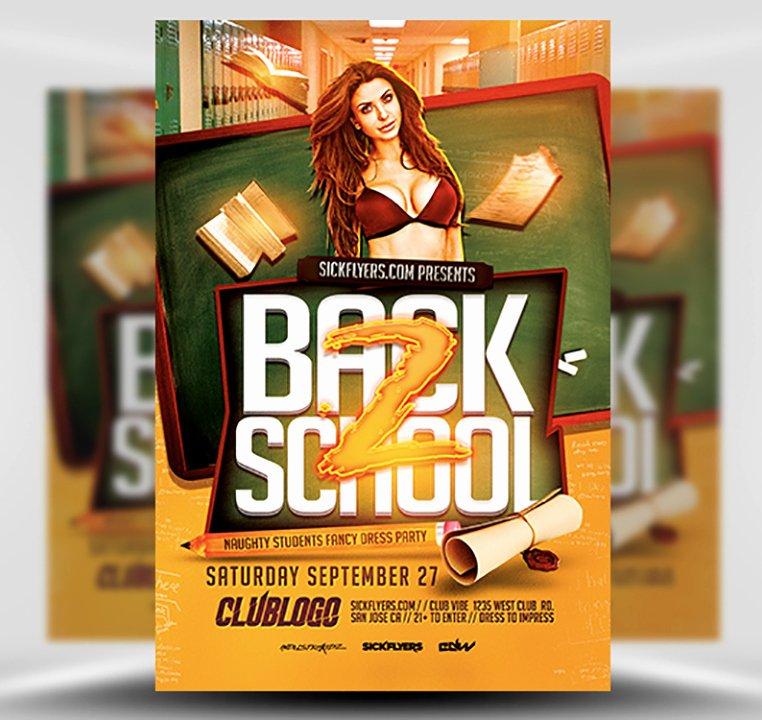School Flyer Template Free Inspirational Back to School Party Flyer Template V2 Flyerheroes