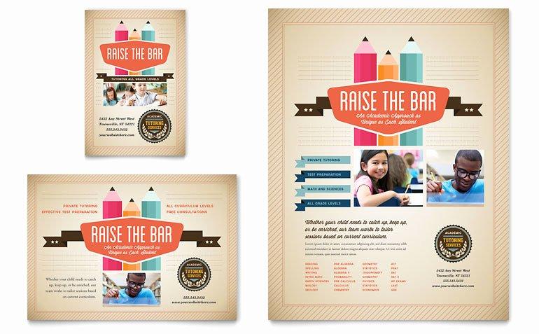 School Flyer Template Free Inspirational Tutoring School Flyer & Ad Template Word & Publisher