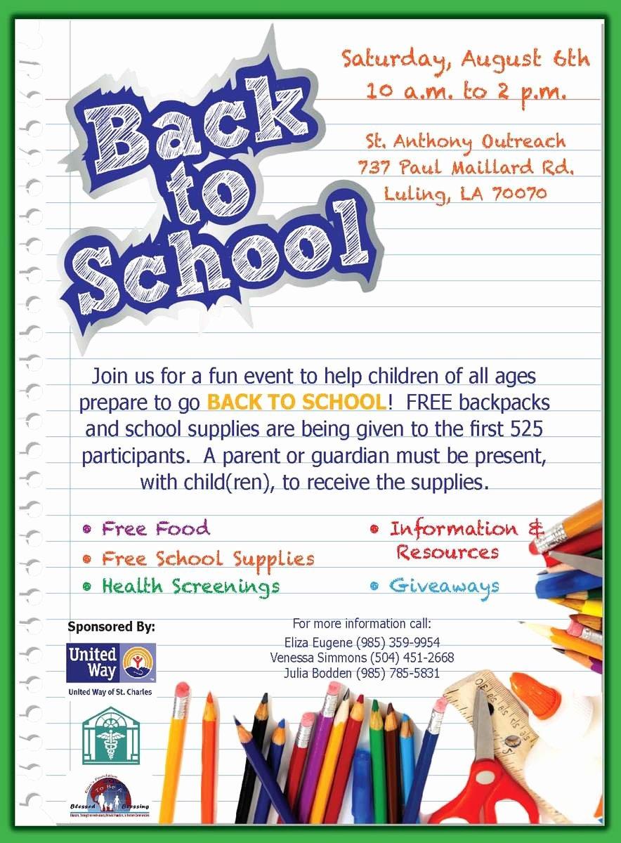 School Flyer Template Free Lovely 11 Best S Of Sample School Flyers Back to School
