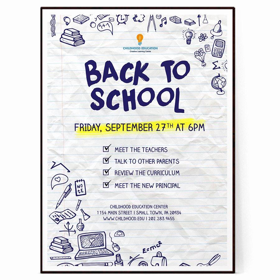 School Flyer Template Free Lovely Back to School Flyer Psd Docx