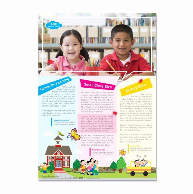 School Flyer Template Free Lovely Learning Center & School Flyer Template