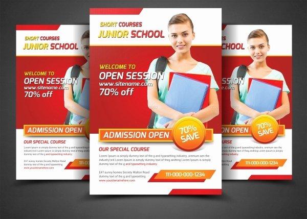 School Flyer Template Free Luxury 27 School Flyer Templates Psd Vector Eps Jpg Download