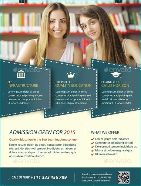 School Flyer Template Free New 20 Professional Educational Psd School Flyer Templates