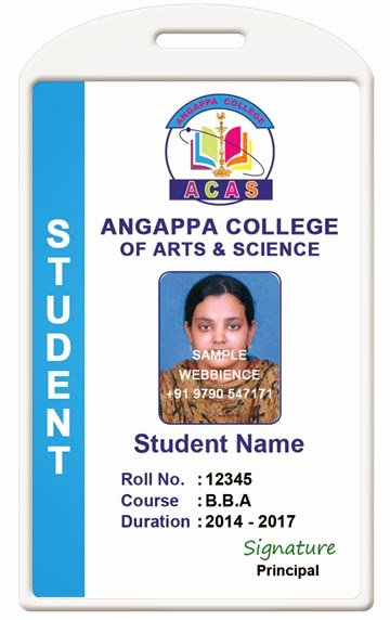 School Id Card Template Beautiful Id Card Coimbatore Ph College Id Card