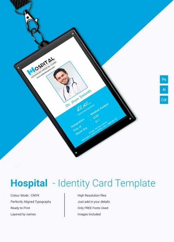 School Id Card Template Best Of 18 Id Card Templates – Free Psd Documents Download