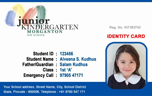 School Id Card Template Best Of Id Cards