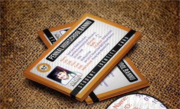 School Id Card Template Elegant 13 Id Card Psd Templates