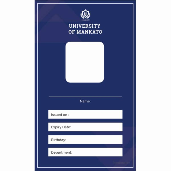 School Id Card Template Fresh 17 Id Card Templates Free Psd Documents Download