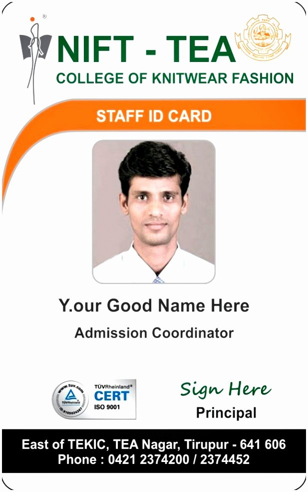 School Id Card Template Inspirational 9 Portrait Id Card Template Tuasp