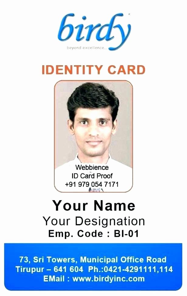 School Id Card Template Inspirational Staff Id Card Template