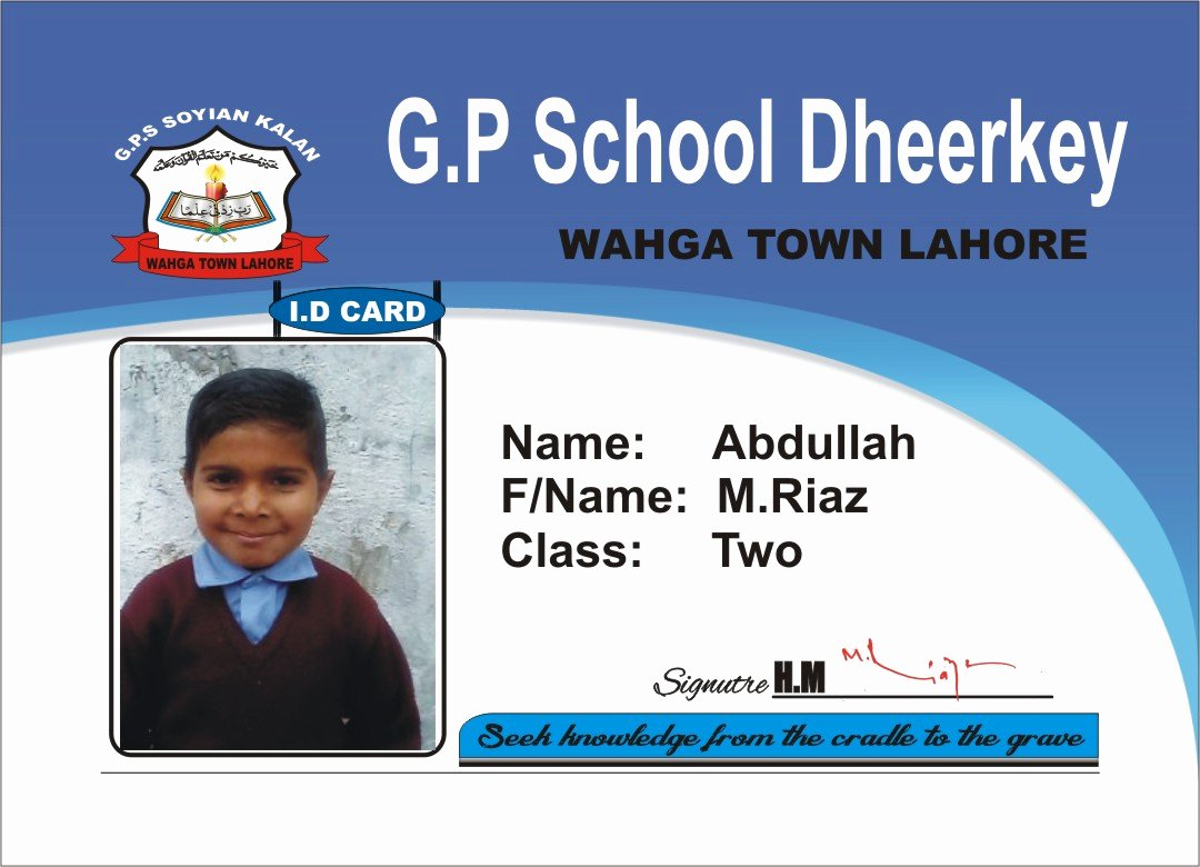 School Id Card Template Luxury Student Cards Designs Card Maker Udent Card