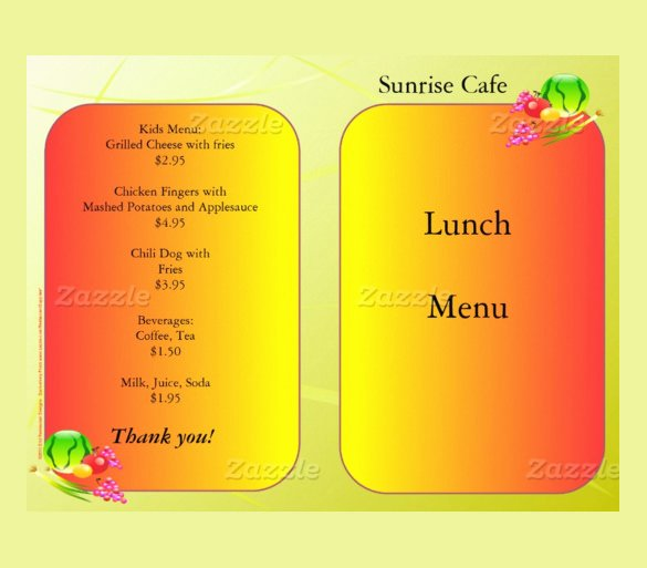 School Lunch Menu Template Beautiful Lunch Menu Templates 31 Free Word Pdf Psd Eps