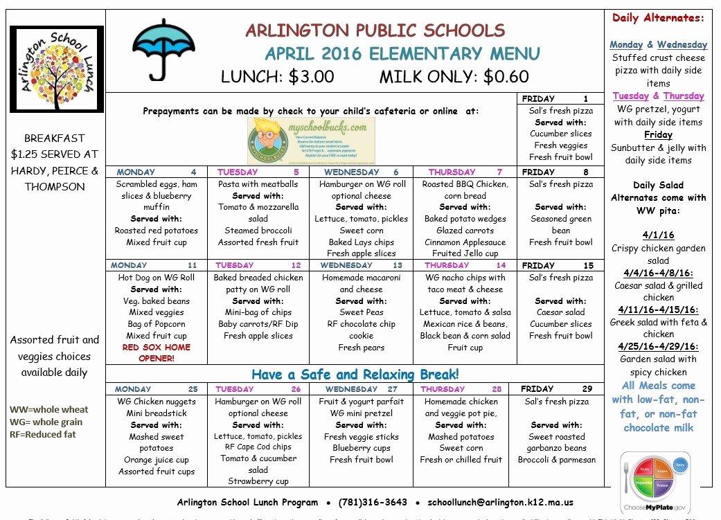 School Lunch Menu Template Best Of 8 Free Sample School Menu Templates Printable Samples