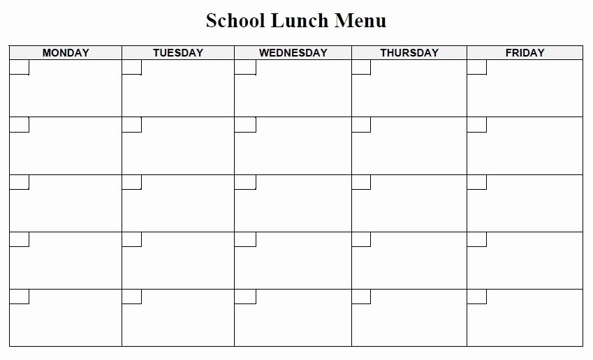 School Lunch Menu Template Inspirational 13 Free Sample Lunch Menu Templates Printable Samples
