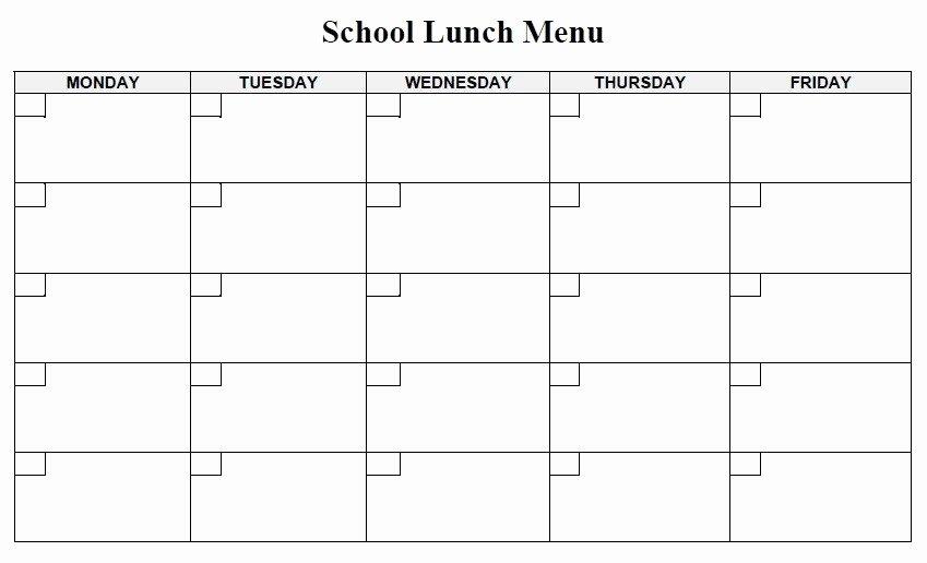 School Lunch Menu Template Inspirational 13 Free Sample Lunch Menu Templates Printable Samples