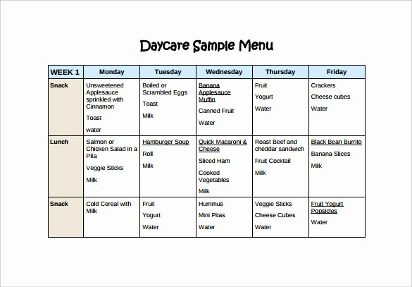 School Lunch Menu Template Lovely Blank School Lunch Menu Template Templates Resume