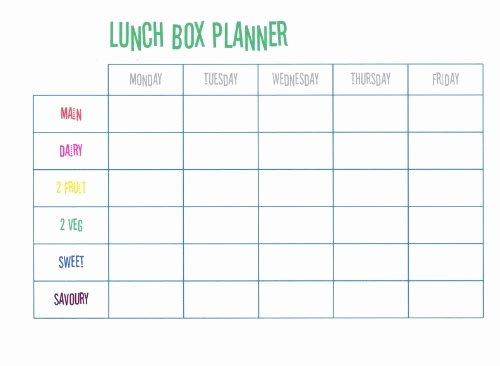 School Lunch Menu Template Luxury Beccis Domestic Bliss Lunch Box Planner Free Printable
