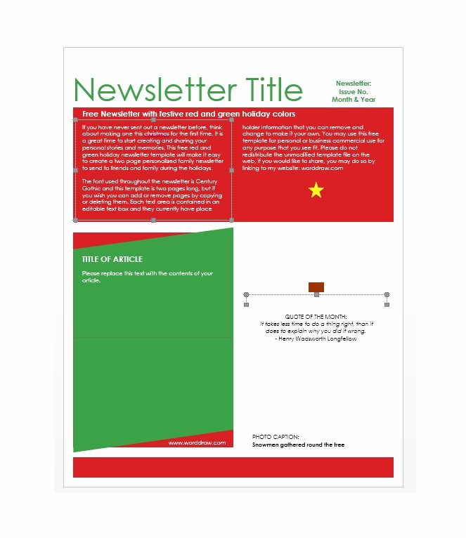 School Newsletter Template Free Awesome 50 Free Newsletter Templates for Work School and