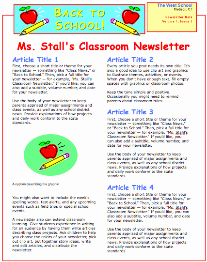 School Newsletter Template Free Beautiful School Newsletter Template for Pages Free Iwork Templates