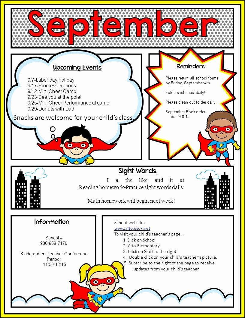 School Newsletter Template Free Best Of Image Result for Superhero Newsletter Template