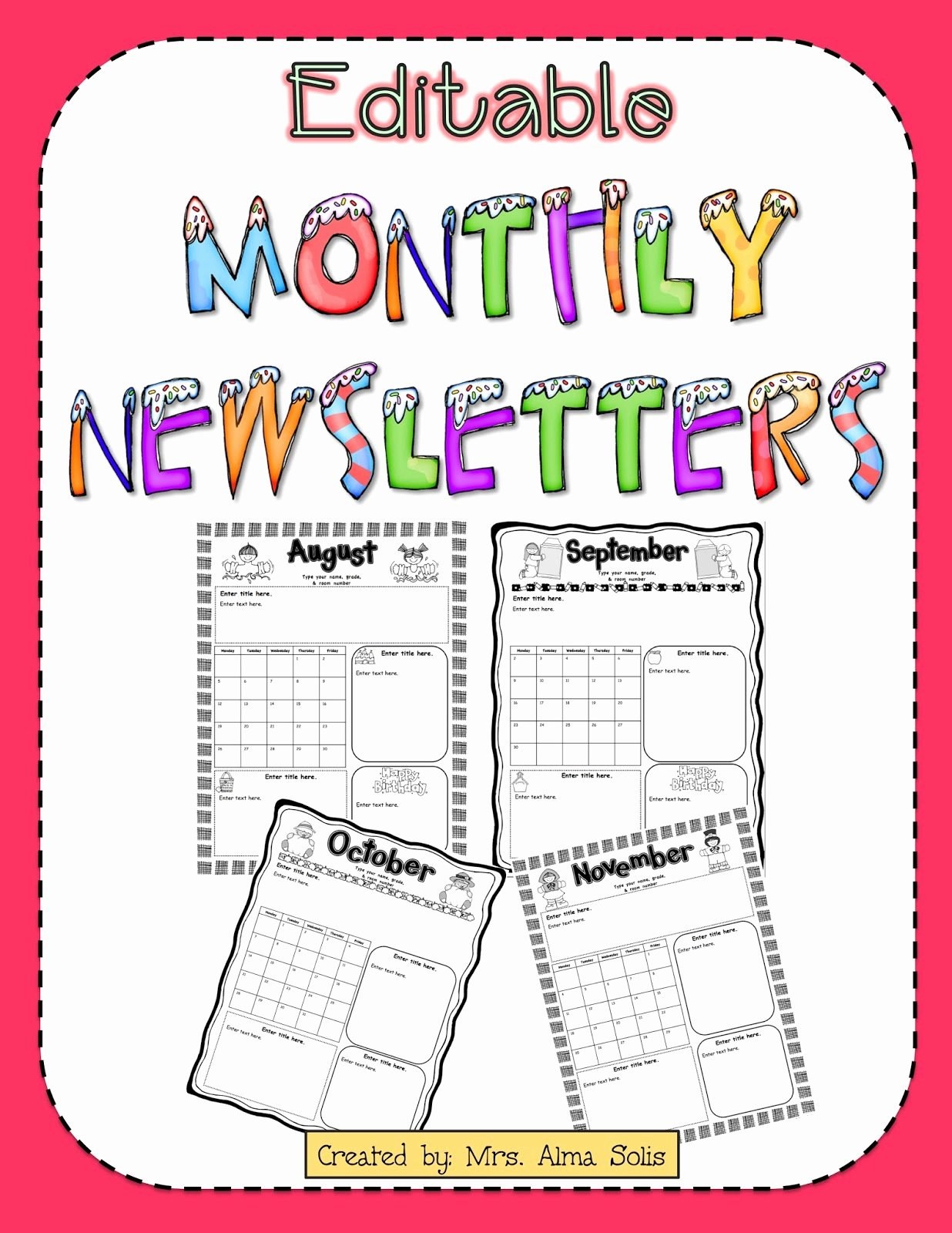 School Newsletter Template Free Best Of Mrs solis S Teaching Treasures Monthly Newsletters