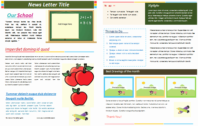 School Newsletter Template Free Fresh School Newsletter Templates for Classroom and Parents