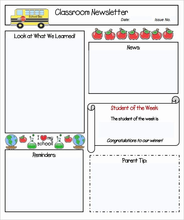 School Newsletter Template Free Lovely Pin by Stacie Schwark On Classroom Newsletters