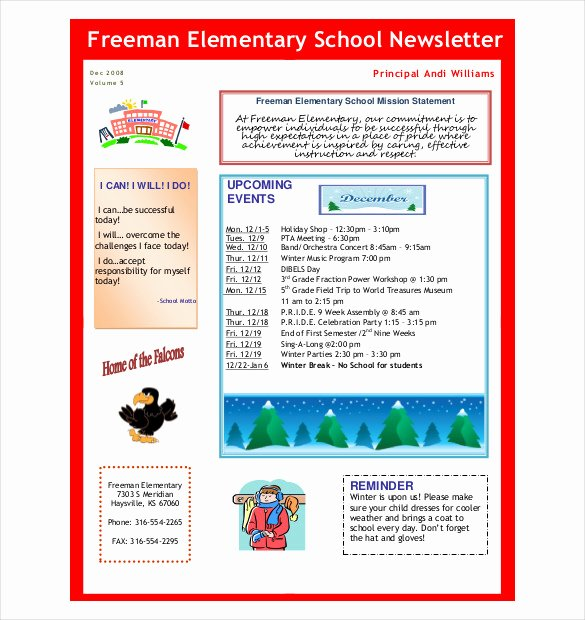 School Newsletter Template Free New 7 Preschool Newsletter Templates Pdf Doc
