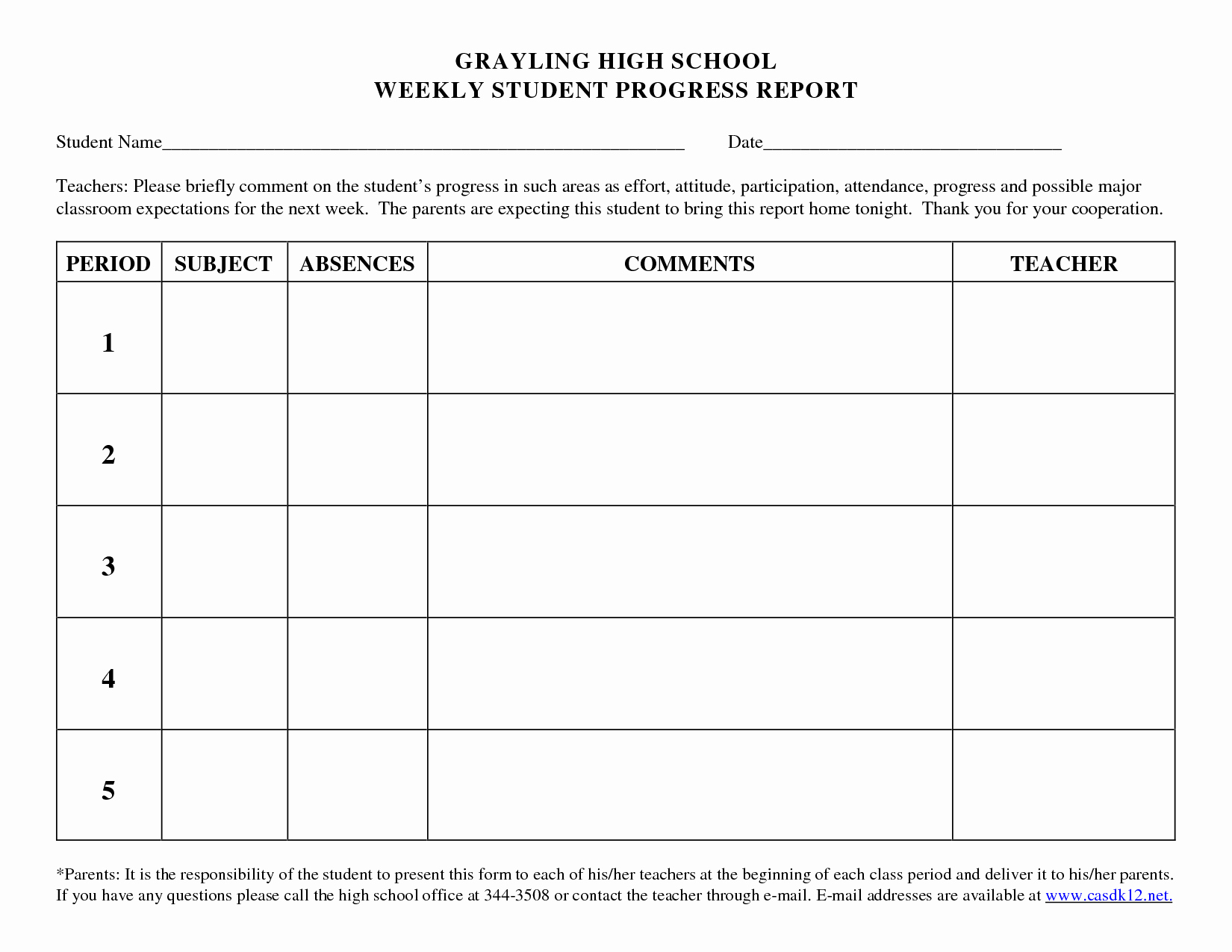 School Progress Report Template Elegant Best S Of School Weekly Progress Report Template