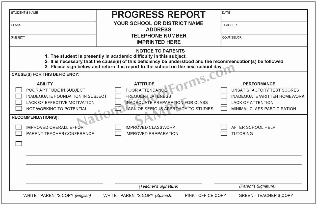 School Progress Report Template Lovely Bilingual Progress Report English Spanish