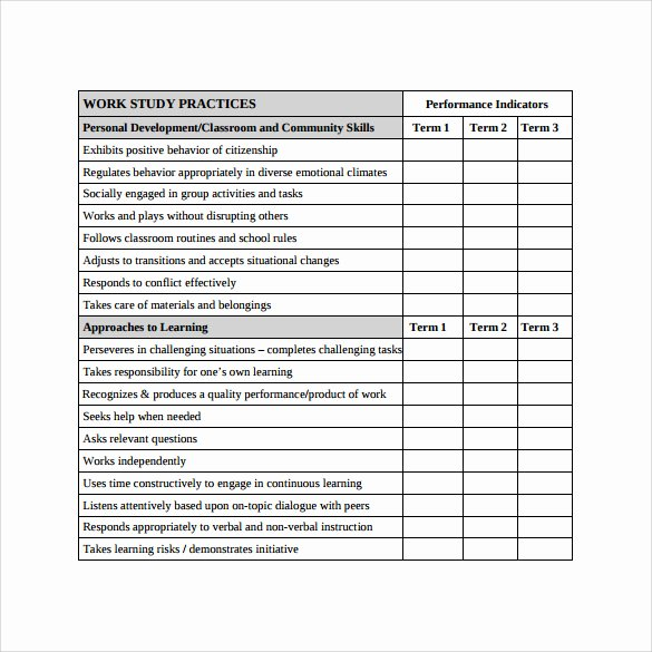 School Progress Report Template Unique 12 Progress Report Card Templates to Free Download