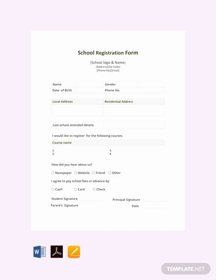 School Registration form Template New Free Phone Call Log form Template Download 67 forms In