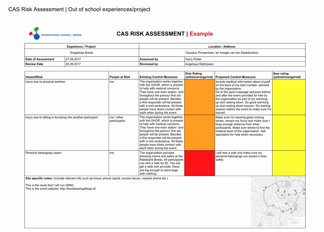 School Threat assessment Template Unique Risk assessment isb Cas