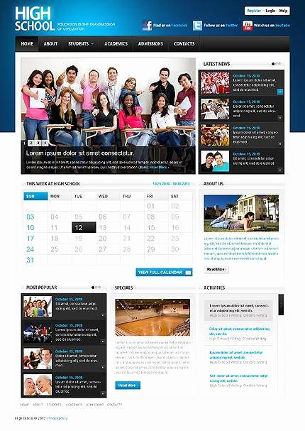 School Web Site Template Awesome Best Education Website Templates